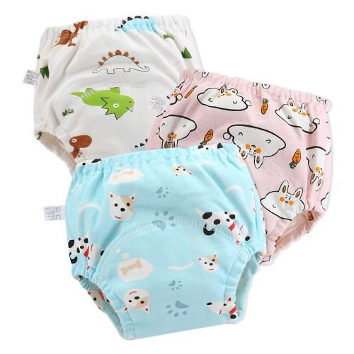 【6件入】學習褲 6層紗嬰兒尿布褲 可調式隔尿褲