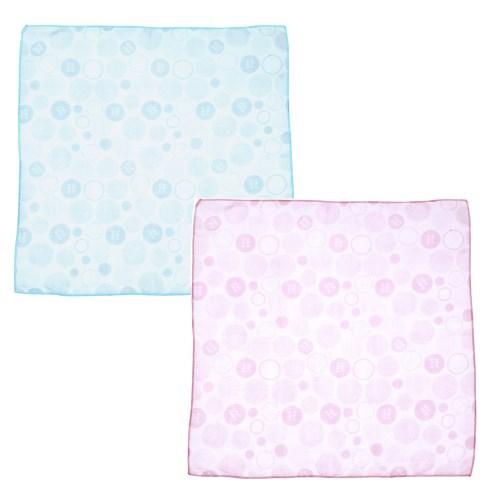 【vivibaby】粉樣純棉紗布手帕3入(藍or粉)