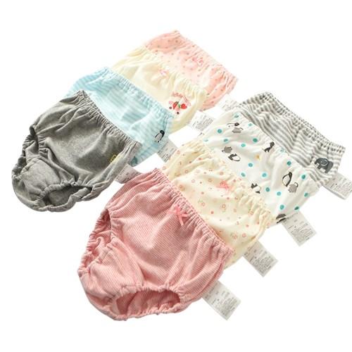 4條裝 兒童卡通三角內褲男女寶寶純棉麵包褲