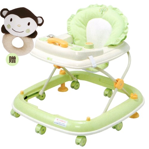 【vivibaby】Will電話造型學步車-贈有機棉手搖鈴(橘or綠)