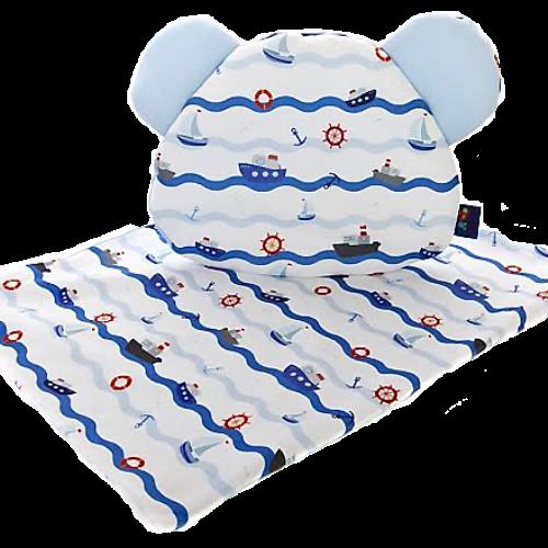 Cuddly Zoo 小小船長 超柔親膚枕毯組 波蘭製
