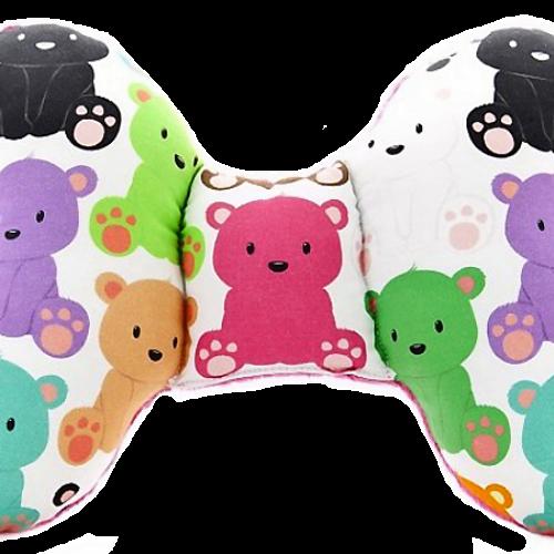 波蘭Cuddly Zoo 繽紛熊寶-桃紅 可愛立體莉莉蝴蝶枕
