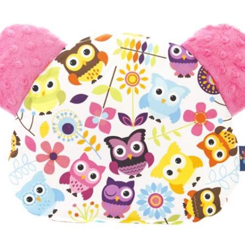 波蘭Cuddly Zoo 守護貓頭鷹 繽紛莉莉安撫米斯熊薄枕