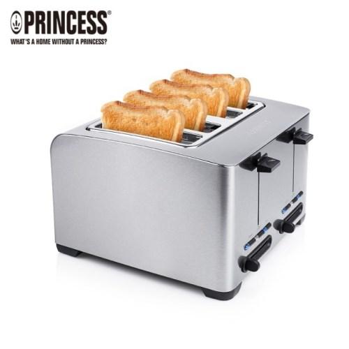 PRINCESS荷蘭公主 不鏽鋼四片烤麵包機 142397