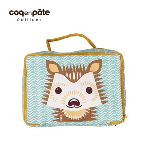 【COQENPATE】法國有機棉無毒環保布包- 方方兒拎出門 - 刺蝟