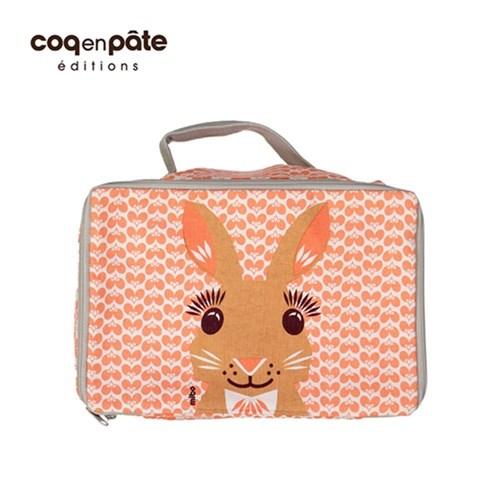 【COQENPATE】法國有機棉無毒環保布包- 方方兒拎出門 - 兔子