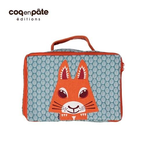 【COQENPATE】法國有機棉無毒環保布包- 方方兒拎出門 - 松鼠