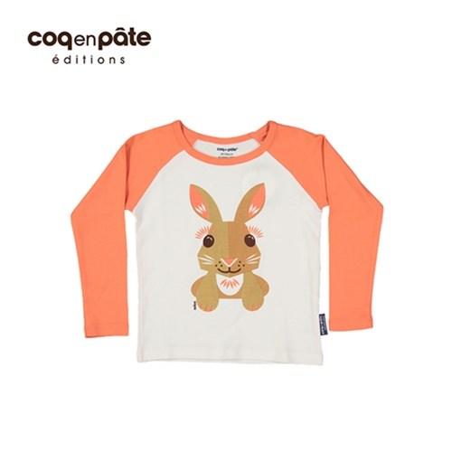 【COQENPATE】法國有機棉童趣 長袖 T-SHIRT -兔子