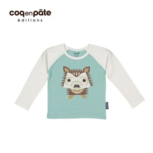 【COQENPATE】法國有機棉童趣 長袖 T-SHIRT - 刺蝟