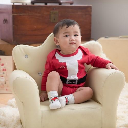 日安朵朵 聖誕寶寶襪2雙組(麋鹿+聖誕老人)
