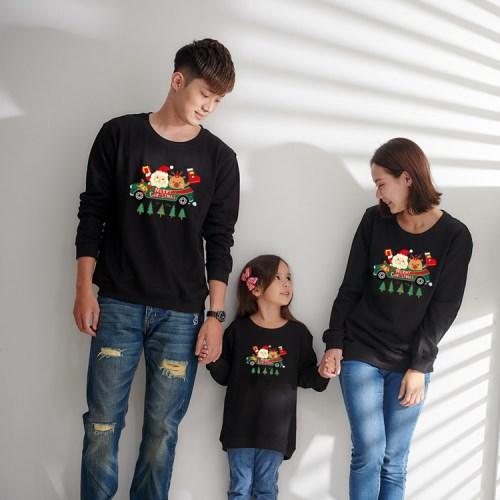 【團購】耶誕中大尺碼長袖親子裝3件組(下單備註顏色尺寸)