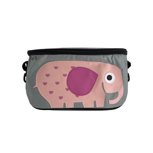 加蓋嬰兒推車奶瓶濕紙巾收納袋置物袋分格掛袋