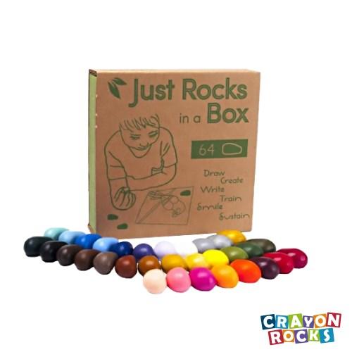 美國【Crayon Rocks】酷蠟石 32顆, 64件便利 紙盒版
