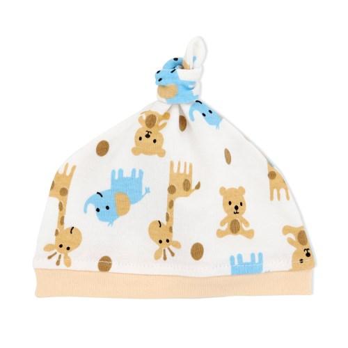 【三件入】嬰兒帽嬰兒純棉打結胎帽新生兒帽