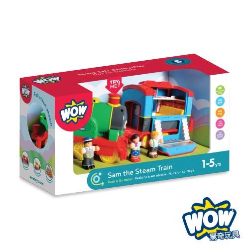 英國 WOW Toys 驚奇玩具 蒸汽火車 山姆
