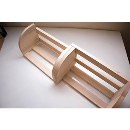 限量-MIT手作原木兒童書架2入組-可伸縮木製環保書架(創意手作DIY體驗)