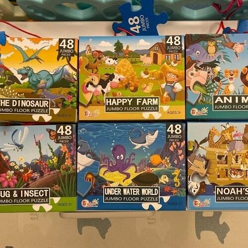【大型地板拼圖】動物主題系列(48pcs*六盒入)