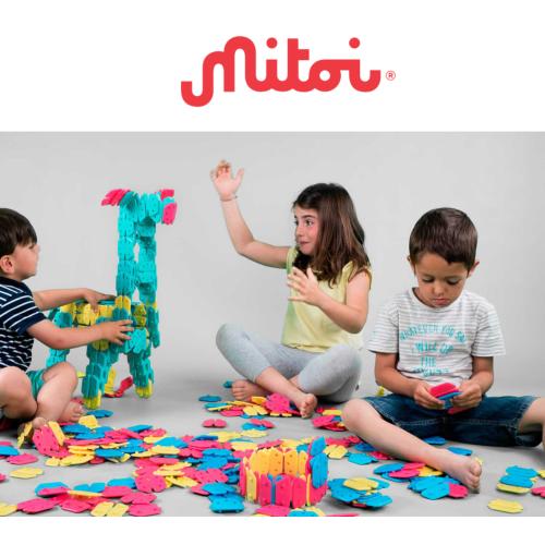 繽紛雪花建構片2盒組-西班牙mitoi可凹折穿戴式積木(48片盒)
