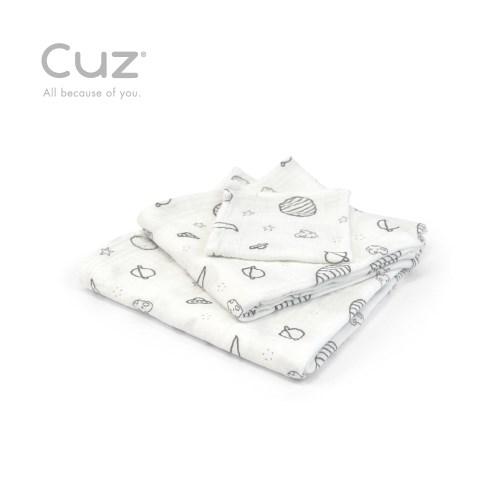 【Cuz】 土耳其天然有機棉防皺紗布巾紗布巾90cm(兩入)