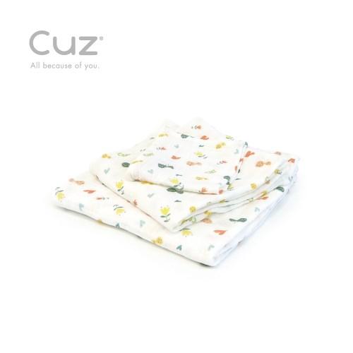 【Cuz】 土耳其天然有機棉防皺紗布巾紗布巾30cm(兩入)