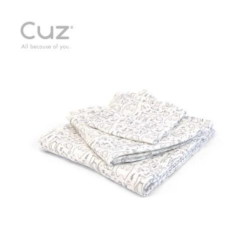 【Cuz】 土耳其天然有機棉防皺紗布巾紗布巾115cm(兩入)
