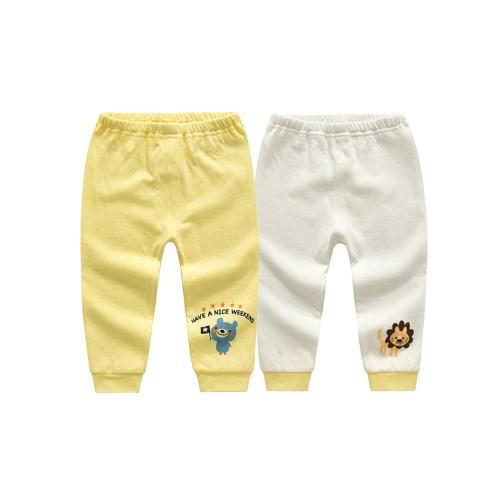 【2件入】童裝兒童內衣長褲 純棉居家服日本提花精梳棉睡褲