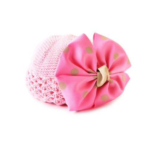 日本 BABY DECO 粉嫩春色蝴蝶結甜心公主帽子 /2色 (日本製)
