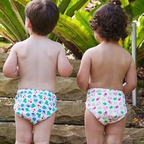 ImseVimse-有機棉幼兒如廁訓練褲(純白)