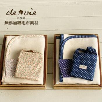 西村媽媽 devie 無漂染 棉毛布 午休毯 禮盒 ( 日本製 )